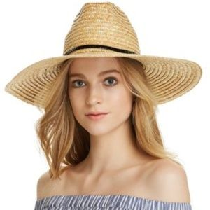 AQUA BY Filippo Catarzi BRAIDED STRAW FEDORA HAT